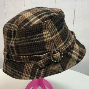 D & Y Brown Plaid Bucket Hat